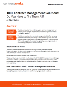 100+ Contract Management Solutions