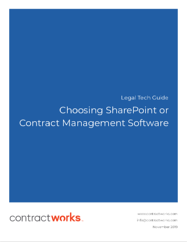 SharePoint or Contract Management Software Ebook Cover