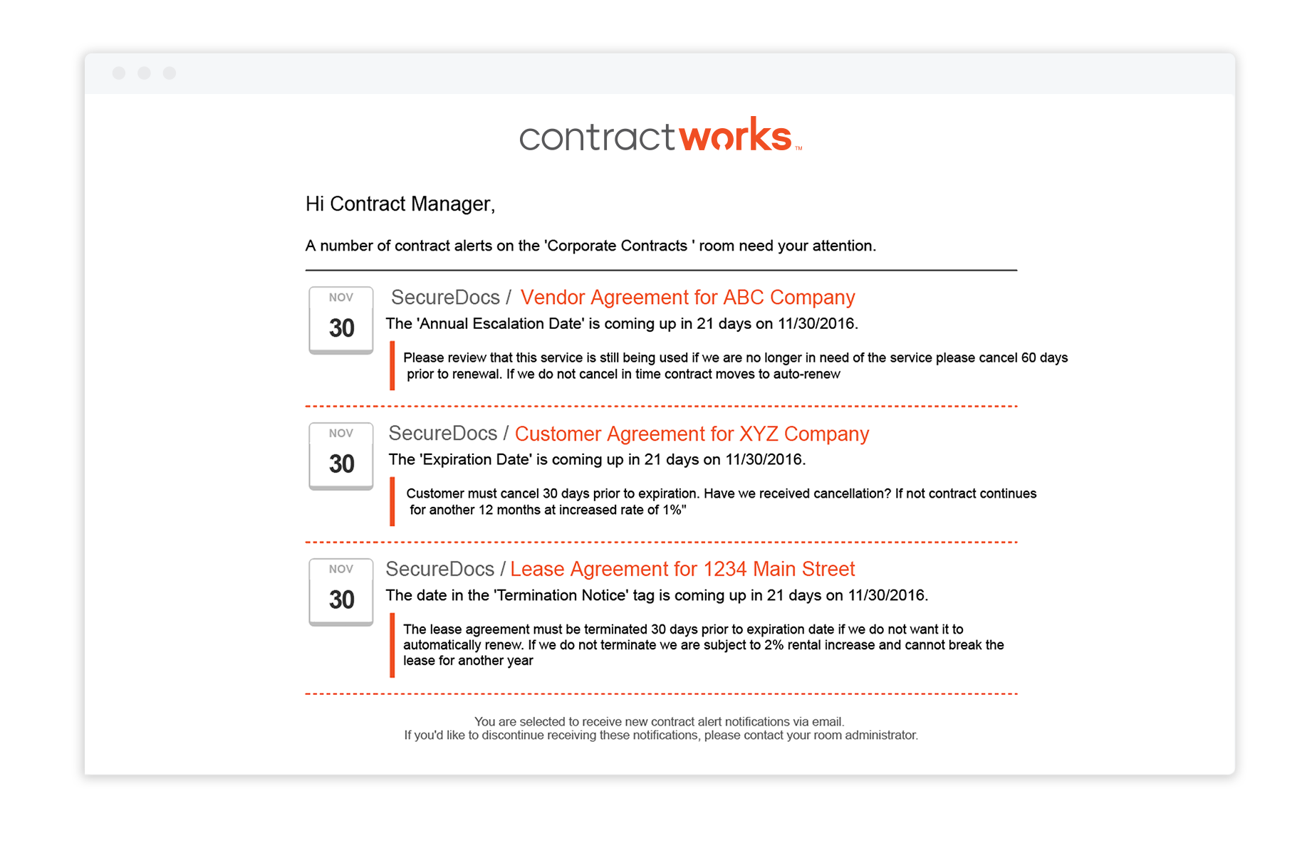 Contract Lifecycle Management with Automated Alerts