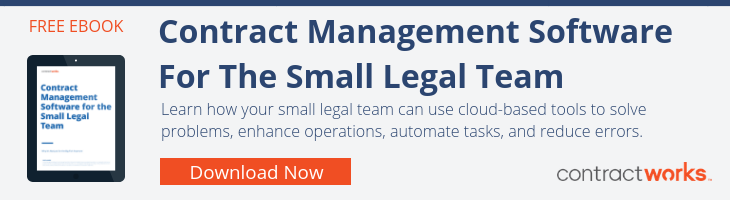 Contract Management For The Small Legal Team